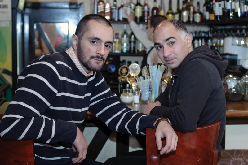 Menininkas Vato Tseretelis (Wato Tsereteli, dešinėje) ir meno mediatorius Vato Urušadzė (Vato Urushadze) . Algirdo KUBAIČIO nuotr.