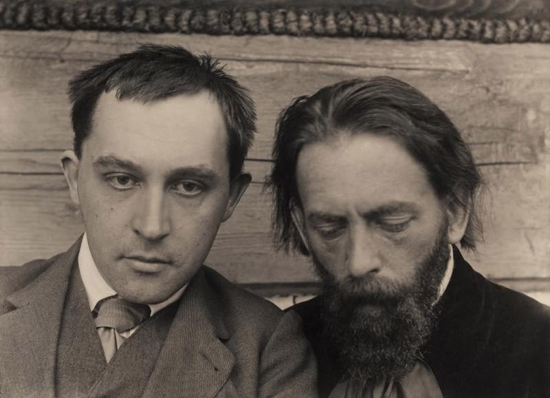 Stanisław_Ignacy_WITKIEWICZ_Autoportretas_su_Tadeusz_Langier_Apie_1913_Stefan_Okolowicz_rinkinys