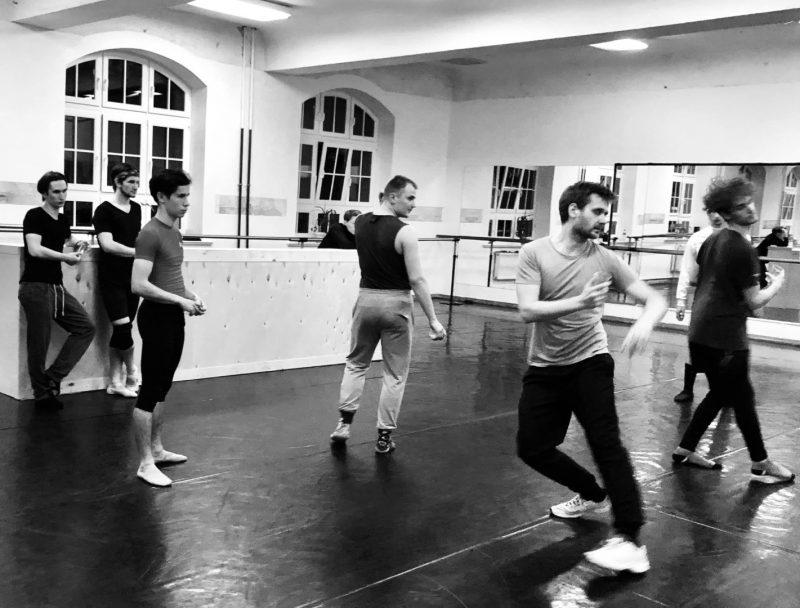 """Šokio spektaklio """"Faustas"""" repeticija. Jelenos Lebedevos nuotr."""
