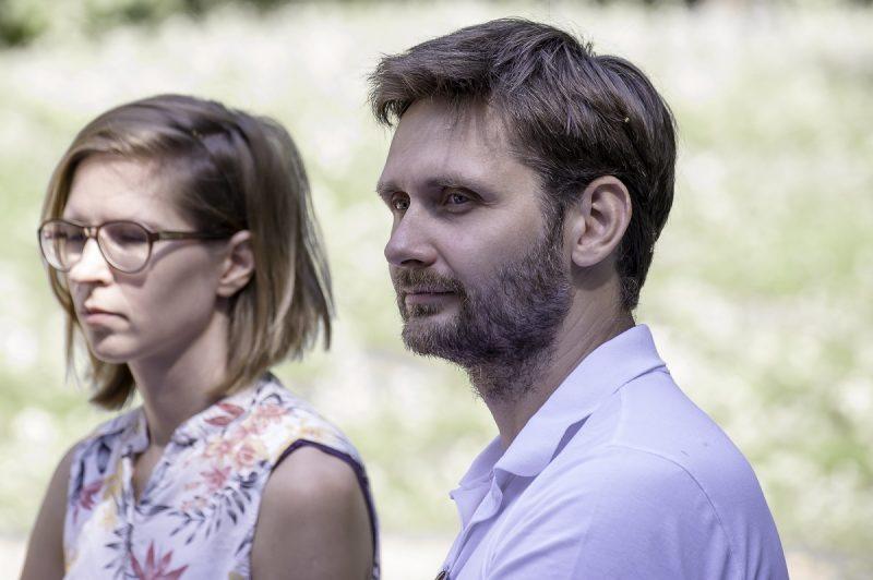Scenografė Martyna Kander ir choreografas Robertas Bondara. Olesios Kasabovos nuotr.