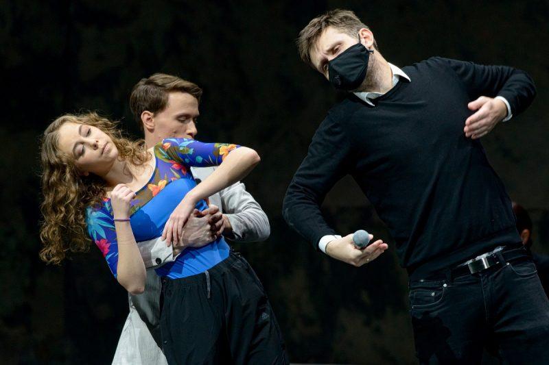 """Šokio spektaklio """"Faustas"""" repeticija. Martyno Aleksos nuotr."""