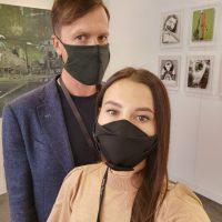 """Berlyno meno mugėje """"Positions"""". R. Petrovas su žmona Žana atstovavo Baroti galerijai. Asmeninio archyvo nuotr."""
