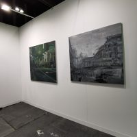 """R. Petrovo darbai iš ciklo """"Sąmyšis"""" Berlyno meno mugėje """"Positions"""". Asmeninio archyvo nuotr."""