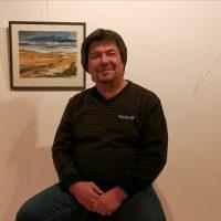 Isroildžon Baroti. Jūros pakrantė. Akvarelė, 42x37 cm.