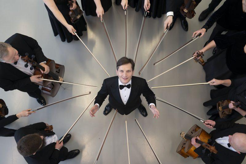 Dirigentas Modestas Barkauskas. Ryčio Šeškaičio nuotr.