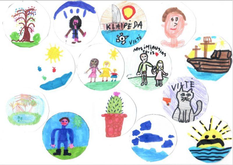 Vaikų piešti ženkliukai