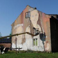 """Tado Vincaičio-Plūgo freska """"Sesės"""". Nerijaus Jankausko nuotr."""