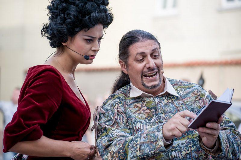 """Opera """"Don Žuanas"""": B. Ignatavičiūtė ir A. Kozlovskis. Olesios Kasabovos nuotr."""