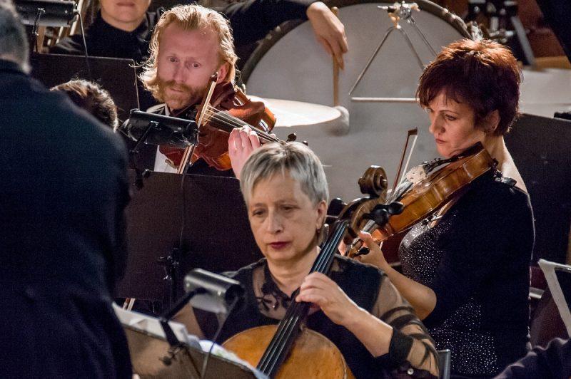 L. Djakovas groja Klaipėdos valstybinio muzikinio teatro orkestre. KVMT nuotr.
