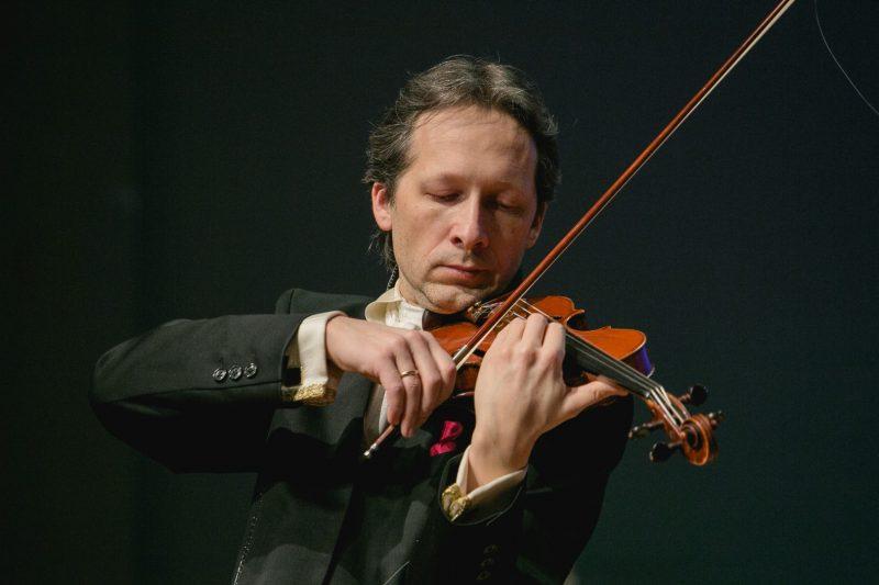 Smuikininkas Vilhelmas Čepinskis. Vytauto Petriko nuotr.