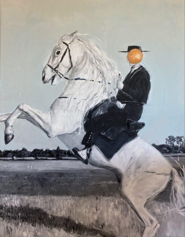 Viktoras Paukštelis. Gambitas. 2021 m., aliejus, drobė, 185x145 cm