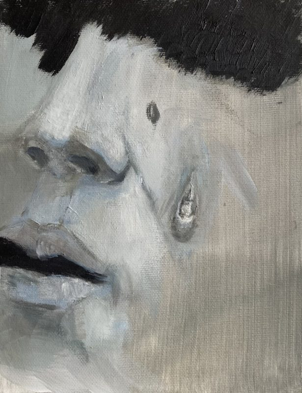 Viktoras Paukštelis. Be pavadinimo. 2020 m., aliejus, drobė, 17x20 cm