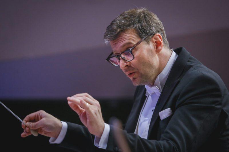Dirigentas Modestas Pitrėnas. Vytauto Petriko nuotr.