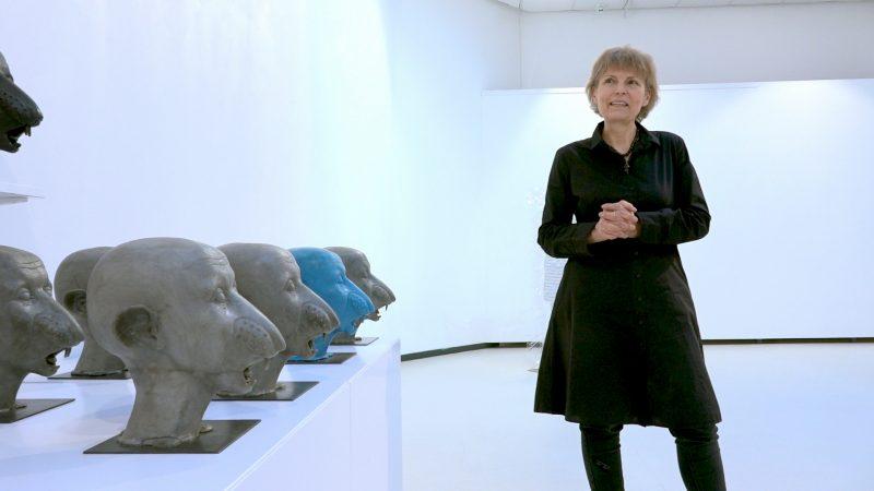 Menininkė Sigita Dackevičiūtė. Kadras iš videoįrašo, operatorius – Nerijus Jankauskas.