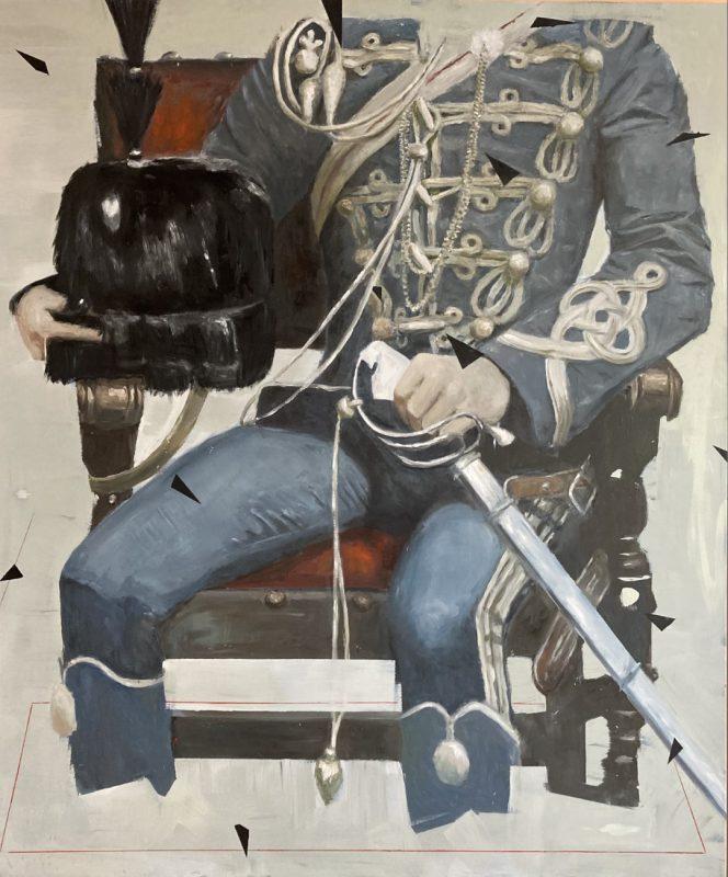 Viktoras Paukštelis. Kiautas II, 2020 m. Aliejus, drobė, 176x147 cm