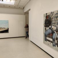 """Viktoro Paukštelio parodos """"Gambitas"""" ekspozicijos fragmentas. Nerijaus Jankausko nuotr."""