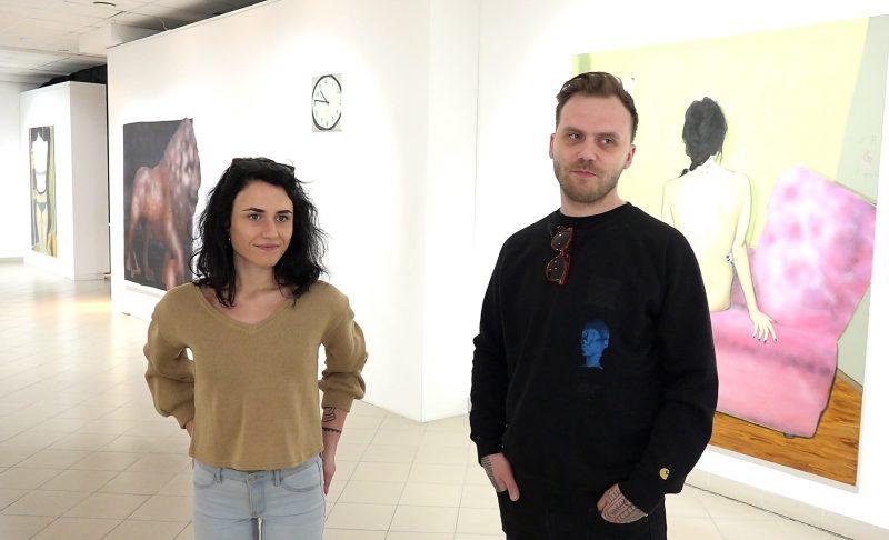 Vita Opolskytė ir Kazimieras Brazdžiūnas. Kadras iš videoįrašo, operatorius Nerijus Jankauskas.
