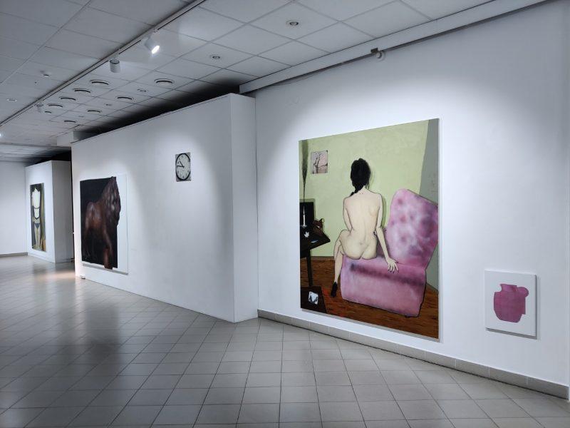 """Vitos Opolskytės ir Kazimiero Brazdžiūno parodos """"X / Y"""" ekspozicijos fragmentas. Nerijaus Jankausko nuotr."""