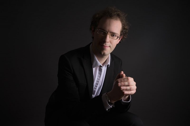 Klavesinininkas, koncerto dirigentas Vincentas Bernhardas. Jeremy Grandclaude nuotr.