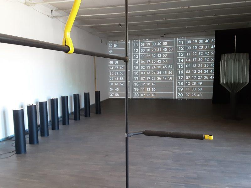 """Dano Aleksos parodos """"75 kilogramai ir spindulys"""" ekspozicijos fragmentas. """"Si:said"""" archyvo nuotr."""