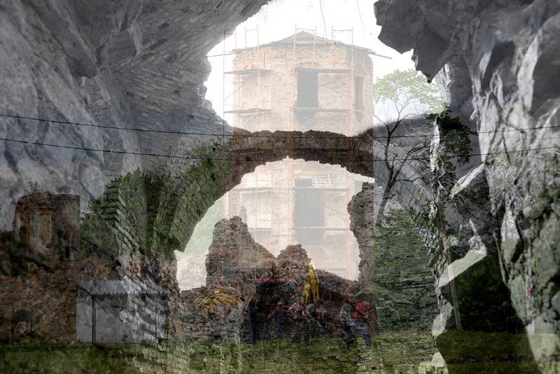 Paslaptingi Sapiegų pilies griuvėsiai Alšėnuose. Vyto Karaciejaus nuotr.