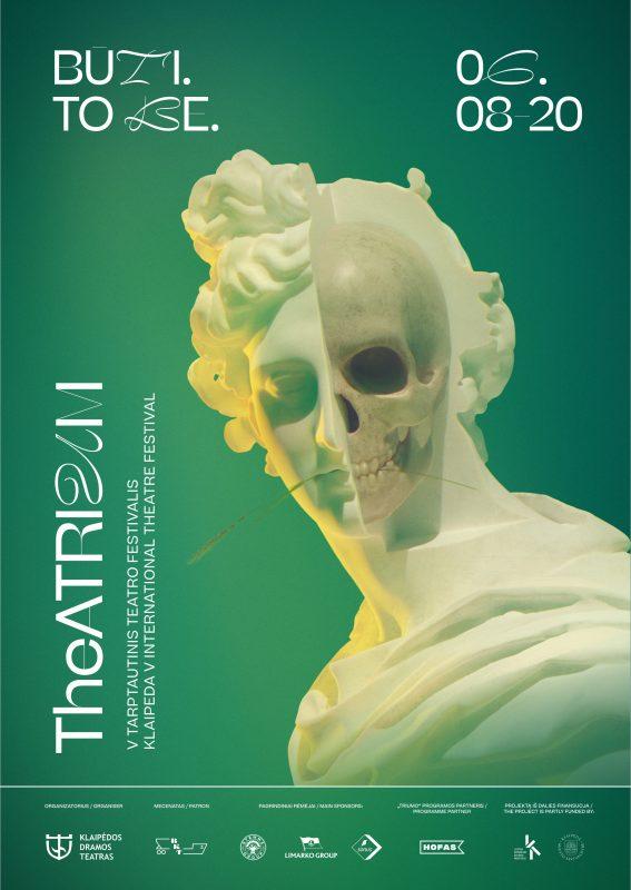 """V tarptautinio teatro festivalio """"TheATRIUM"""" plakatas"""