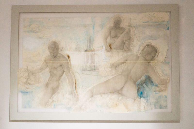 SETP STANIKAS. Jūros. Pieštukas, akvarelė, medis, stiklas. 2021 m. Vitos Jurevičienės nuotr.