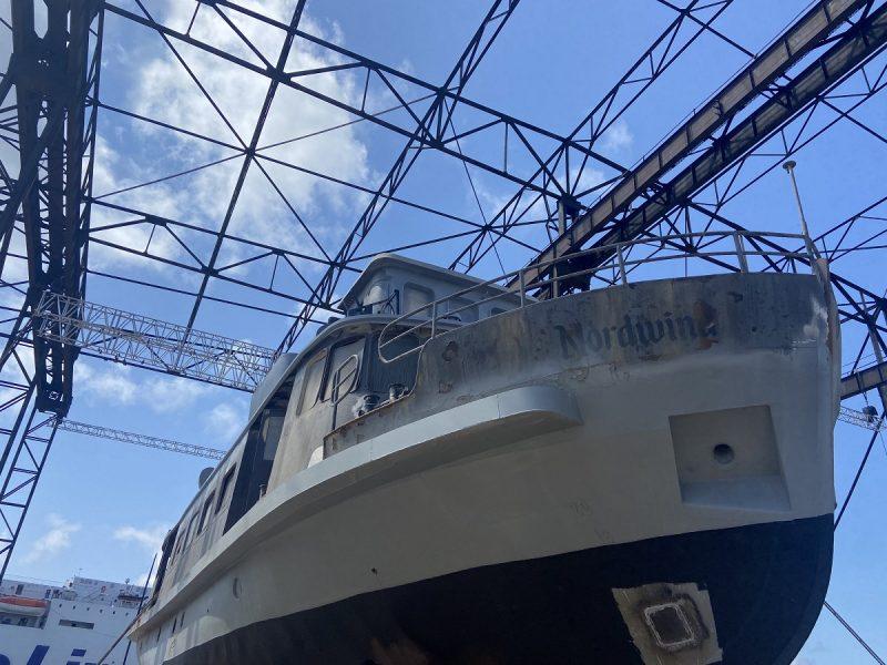 """Laivas """"Nordwind"""" ruošiamas antram pasirodymui operos scenoje. KVMT archyvo nuotr."""