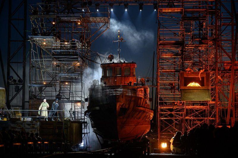 """Laivas """"Nordwind"""" – operoje """"Skrajojantis olandas"""". Martyno Aleksos nuotr."""