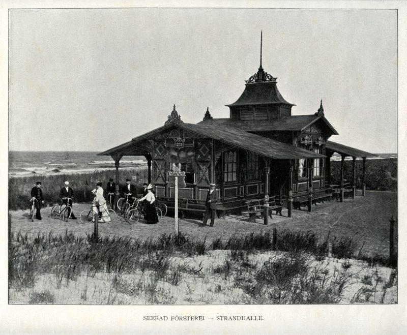 """Paplūdimio restoranas """"Strandhalle"""". Album von Memel und Umgegend. Berlin, apie 1905 m."""