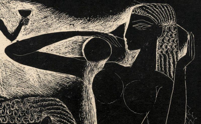 """Stasys Krasauskas. Iš ciklo """"Giesmių giesmė"""" (fragmentas). 1966 m. LNDM"""