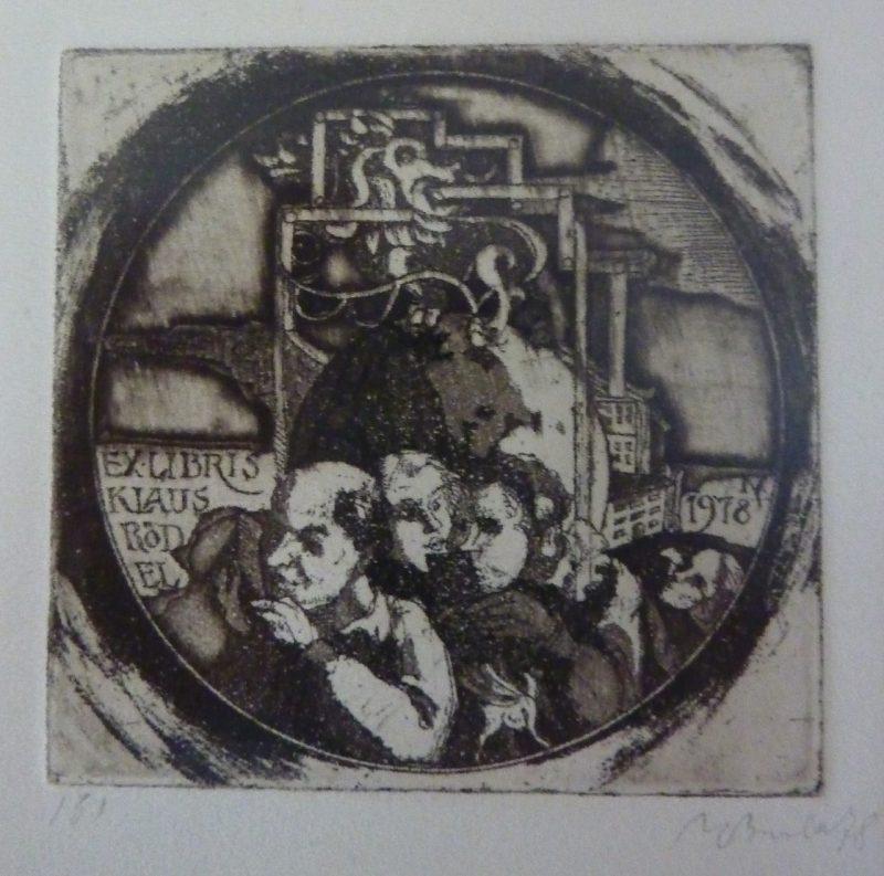 A. V. Burba. Klauso Rödelio ekslibrisas. 1978. R. Davidavičienės kolekcija