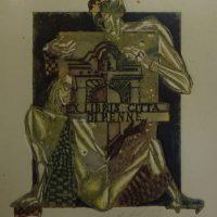 A. Kmieliauskas. Penne miestelio ekslibrisas / Ex libris Citt'a di Penne. 1983. R. Davidavičienės kolekcija