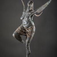 Edmundas Frėjus. Moteris su sparnais III. Kalta geležis, 120x44 cm, 2009 m. Manto Bartaševičiaus nuotr.