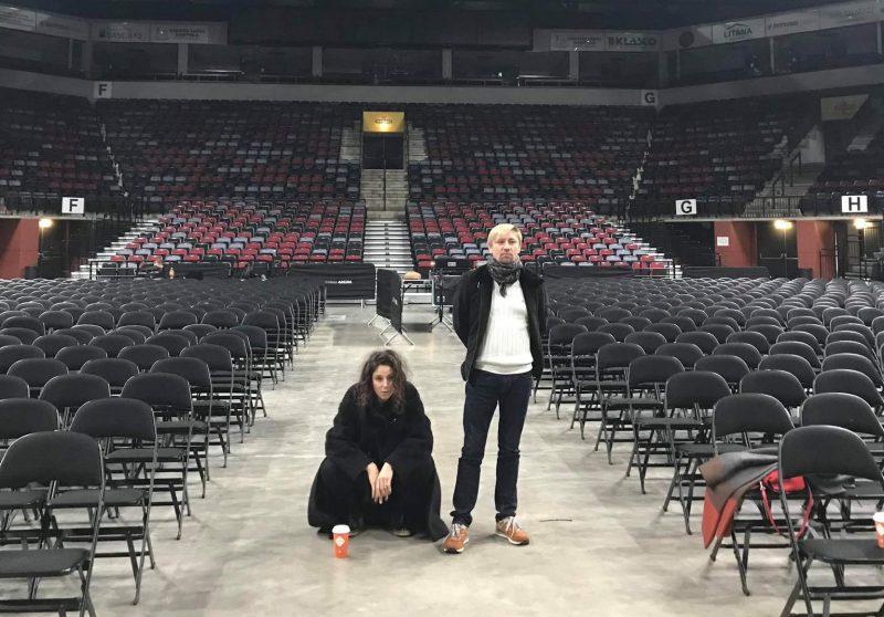 Scenografė Jekaterina Zlaja ir choreografas Kirilas Simonovas. Asmeninio albumo nuotr.