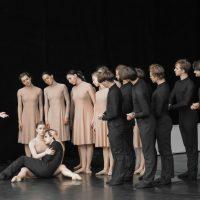 """Šokio spektaklio """"Stabat Mater"""" repeticija. Olesios Kasabovos nuotr."""
