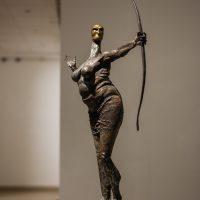 Edmundas Frėjus. Amazonė. Kalta geležis, 117x60 cm, 2004 m. Manto Bartaševičiaus nuotr.