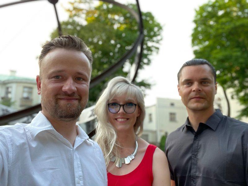 Projekto autoriai Kristijonas Lučinskas, Irena Upė ir Donatas Bielkauskas. K. Lučinsko nuotr.
