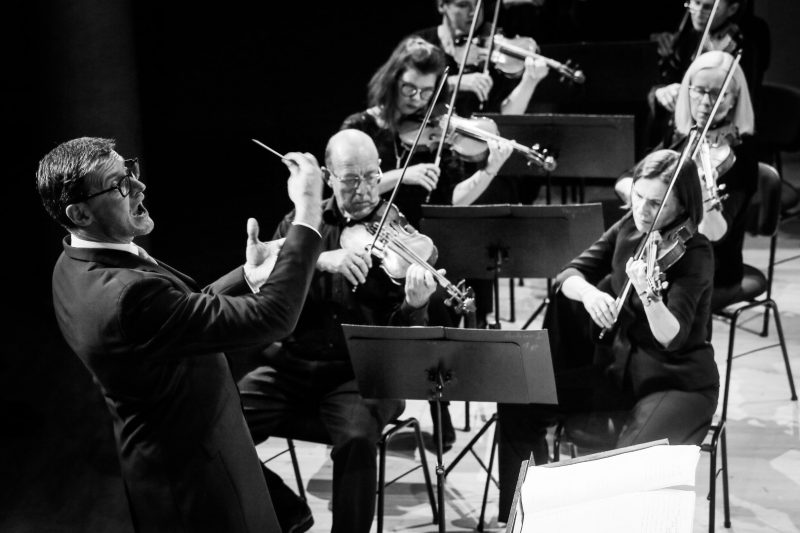 Lietuvos nacionalinis simfoninis orkestras, meno vadovas Modestas Pitrėnas. Vytauto Petriko nuotr.